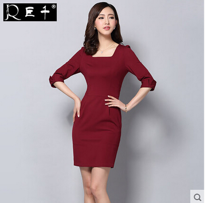 Plus Size Xl Red Outfit Las Dress Suits For Work Fashion Office