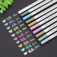 Painting Pen 10pcs Set Metallic Pencil Set Marker Album Sketch Water Color Marker Brush Pen U70922