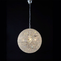 Crystal Restaurant Modern Minimalist Bedroom LED Pendant Light Crystal Round Ball Lighting Aisle Lights
