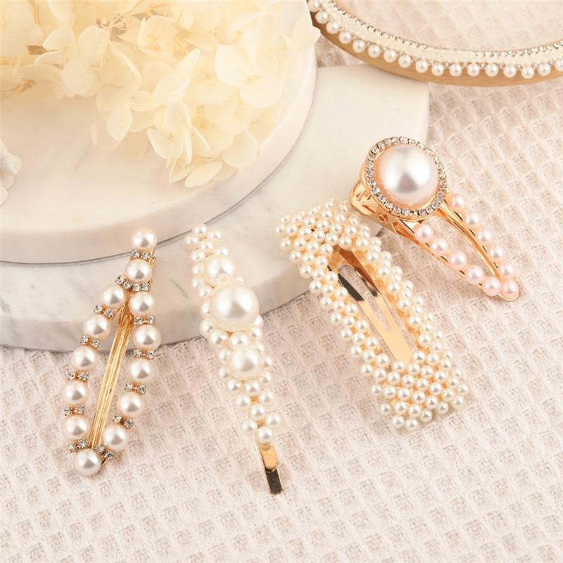 6PcsSet Women Girls Elegant Pearls Hairpins Wedding Hair Clips Sweet Headwear Hair Pins Ornament Hairpins Barrettes (18)