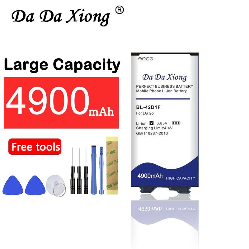Da Da Xiong 4900mAh Bateria para LG G5 BL-42D1F H850 H820 H830 H831 H840 H868 H860N H860 LS992 US992 f700L F700S F700k VS987