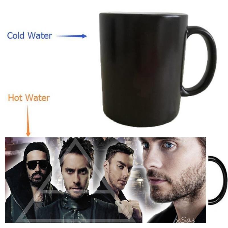 30 <font><b>Seconds</b></font> To Mars mugs coffee mug heat changing color Heat reveal mugs magic beer <font><b>Cup</b></font> transforming cafe <font><b>cups</b></font>