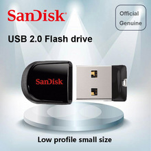 100% Genuine SanDisk SDCZ33 USB Flash Drive 64GB 32G 16GB 8GB mini Pen Drives USB 2.0 PenDrive Support official verification