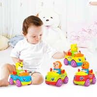 4 pièces/lot enfants retirer voitures chien singe tigre Animal dessin animé voitures Friction voiture enfants plage modèle jouets