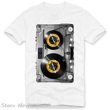 Turntables on tape men's t-shirt