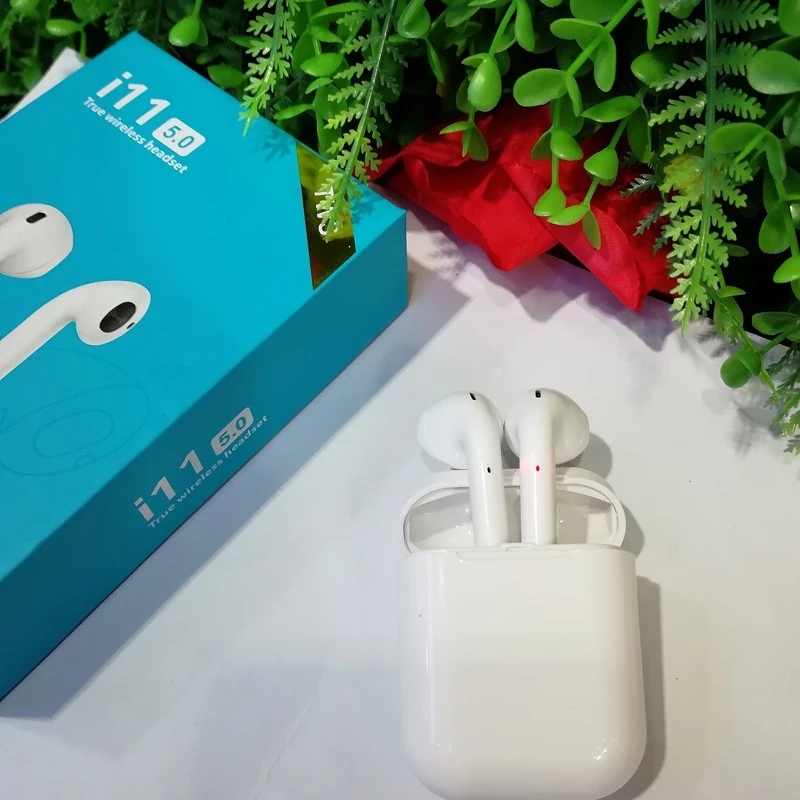 <font><b>I11</b></font> <font><b>TWS</b></font> Wireless Bluetooth 5.0 Earphone Stereo I7s-touch Earbud Headset with Charging Box Mic for Iphone Xiaomi All Smart Phone image