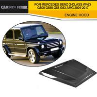 Car Style Carbon Fiber Front Engine Hood Cover For Mercedes Benz G CLASS W463 G500 G550