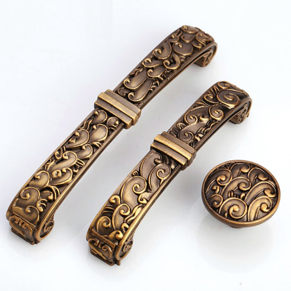 3.75 5 Dresser Drawer Pulls Handles Knobs Cabinet Knob Retro Kitchen Furniture Handle Hardware Antique Brass Handles 96 128 MM 2 5 3 75 5 rustic dresser drawer pulls handles kitchen cabinet door handles knobs antique silver black hardware 64 96 128 mm