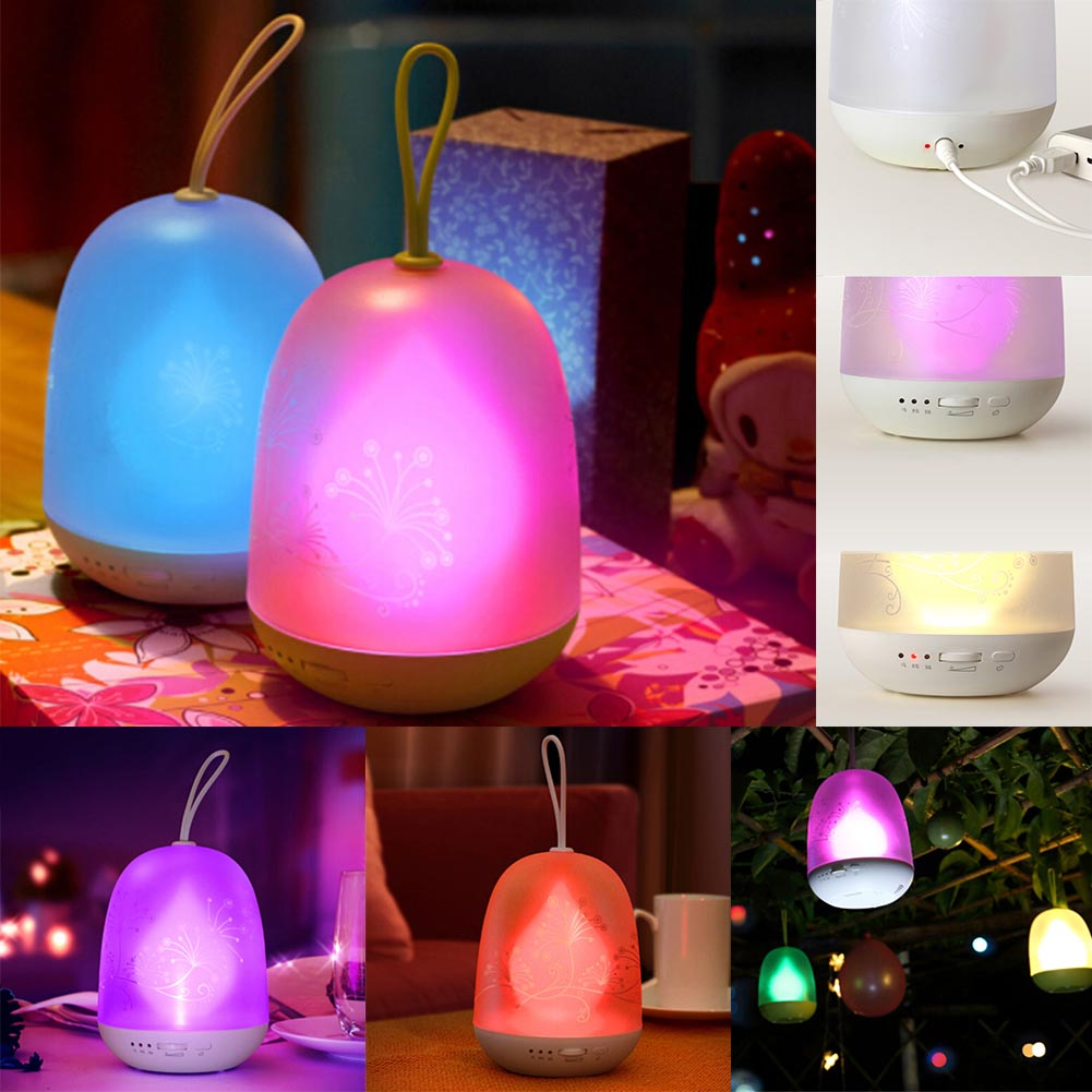Colorful Timing Light Magic Discoloration Bedroom Atmosphere Light USB Charging LED Night Light Colorful Flame Lights Dropship