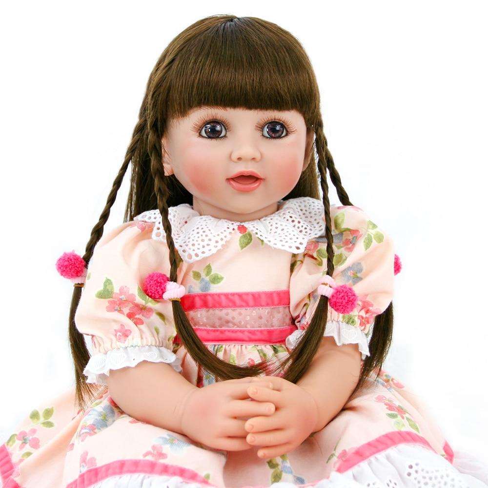 60CM grand Bebe reborn todder fille princesse poupée longue doux cheveux peigne Surprises cadeau l. o. l jouet doux au toucher vinyle bébé vraie poupée