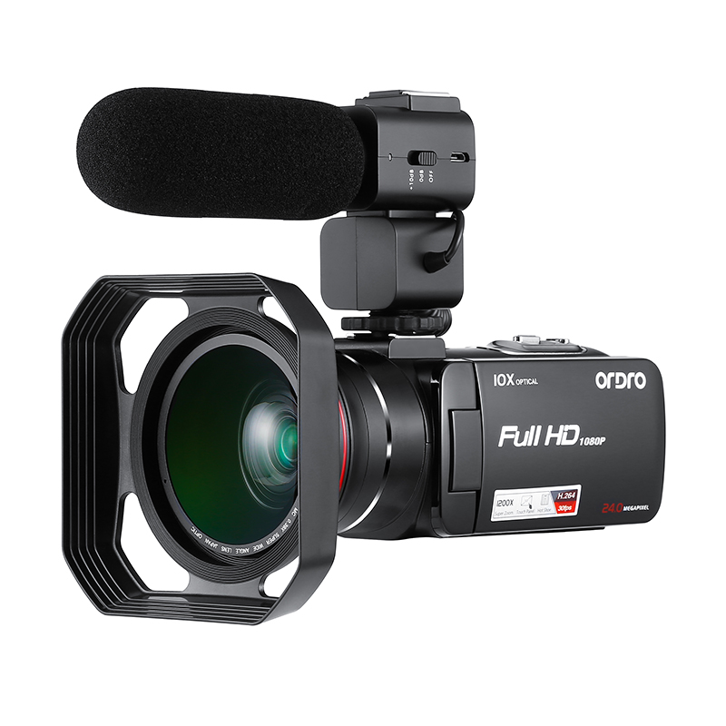 High Quality 10X Optical Zoom 5.0MP CMOS Professional Video Camera With Optional Wide Angle Lens 3.0 Digital Camcorder HDV Z80
