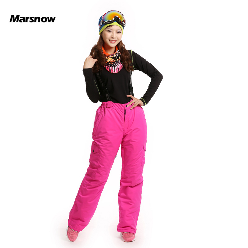 New Arrival Marsnow Brand Lady Outdoor Sport Waterproof Thick Ski Pants Women High Quality Snowboard Winter Hiking Snow Trousers marsnow brand outdoor sport warm breathable waterproof ski pants men high quality snowboard winter hiking snow trousers for men