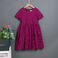 Summer Lace Skirts Family Matching Outfits Mommy Baby Kids Girls Party Dress Children Clothes Mother And