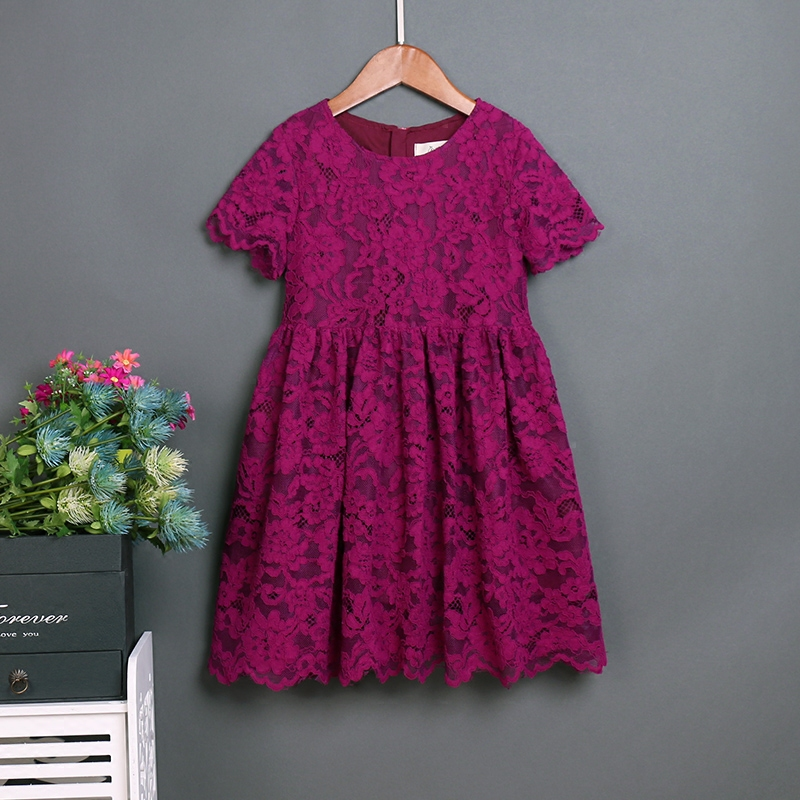 Summer lace skirts family matching outfits mommy baby kids girls party dress children clothes mother and daughter formal dresses