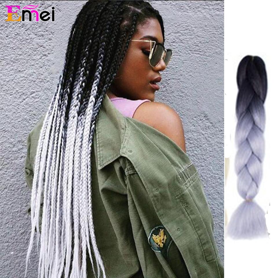 1 6 pieces expression Kanekalon braiding hair Black ...