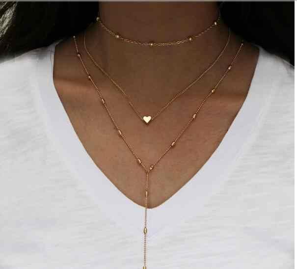 Tenande Simple Style koraliki zwierząt słoń trójkąty krzyż miłość serca kreatywne naszyjniki dla kobiet biżuteria punkowa
