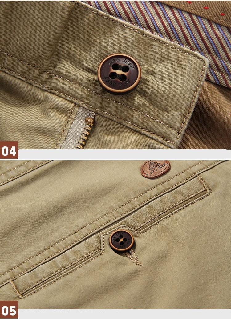 4 Colors 30-42 100% Cotton Fashion Joggers Men Casual Long Pants Men\'s Clothing Black Khaki Pants Trousers Autumn Summer Brand (8)