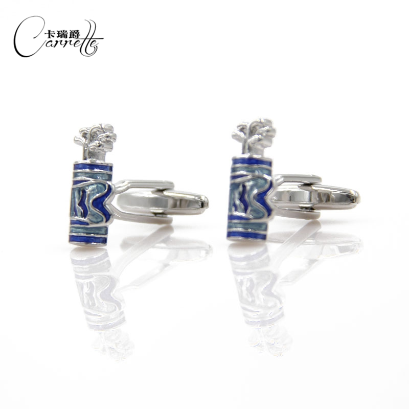 Fun golf bags creative modeling cufflinks French cuff nail KLJ1292 ...