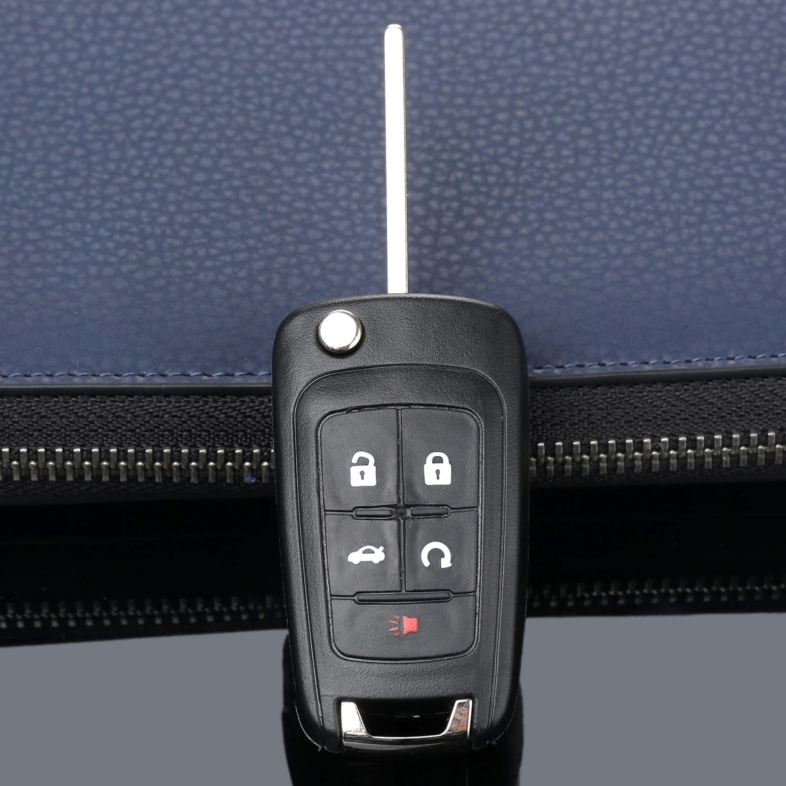 Image 2 - Чехол для дистанционного ключа 5 кнопок откидной складной чехол для Buick Lacrosse Regal Verano ключ сигнализации автомобиля сменный без ключа Fob крышка-in Ключ авто from Автомобили и мотоциклы
