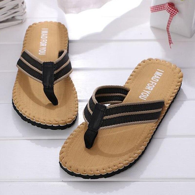 купить New Summer Mens Flip Flops Fashion Slippers Beach Shoes Comfortable Thong Sandals Casual по цене 393.71 рублей