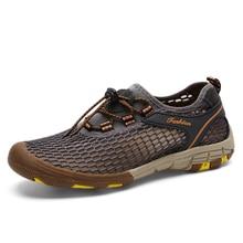 2018 Verano Más Tamaño 39-47 Nuevo Mens Tactical Zapatos de Senderismo Al Aire Libre de Malla Transpirable Escalada Trekking Sneakers Tamaño Grande