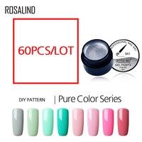 ROSALIND 60PCS Pure Color Painting Nail Gel For Nails Art Manicure Free Shipping Vernis Soak Off Gel Nail Polish UV LED