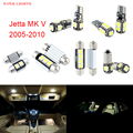 10 unids led canbus luces interiores kit package para volkswagen vw jetta mk v (2005-2010)