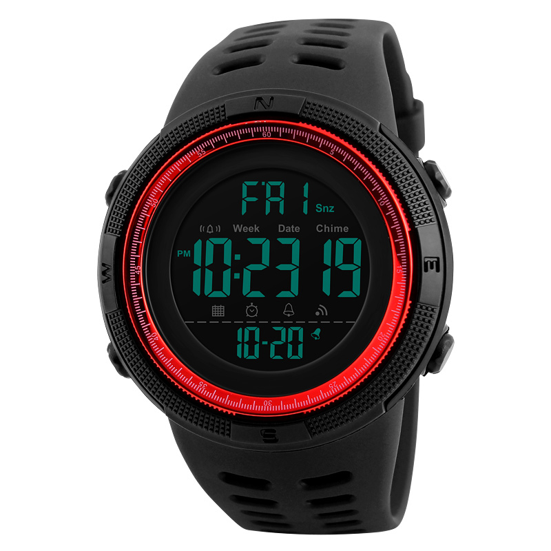 Skmei Luxury Brand Mens Sports Watches Dive 50m Digital LED Military Watch Men Fashion Casual Electronics Wristwatches Relojes 14