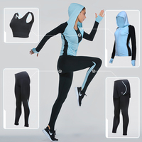 Vansydical Sports Clothing Yoga Sets Women S Sports Suits 4pcs Fitness Sportswear Training Running Set GYM