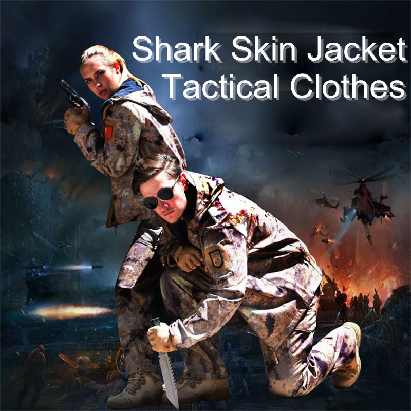 TAD Shark Skin Soft Shell Camo Jacket Hunting Clothes Shirt Or Pants Outdoor Sports Tactical Military Waterproof Hiking Clothing цены онлайн