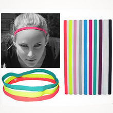 MIRISI 5pcs/Lot Fashion Women Elastic Headband Sport Yoga Running Anti-skip Hairband Headband Girl HairHoop Hair Accessories