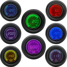 52 мм Boost/температура воды/Температура масла/Вольт/Тахометр/EGT/соотношение воздушного топлива/Датчик давления масла ЖК-дисплей цифровой 7 цветов дисплей+ Калибр стручки