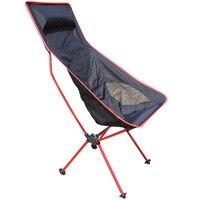 Kırmızı Traveling ışık hattı Katlanır sandalye koltuk açık eğlence kamp taşınabilir balıkçılık sandalye koltuk şezlong