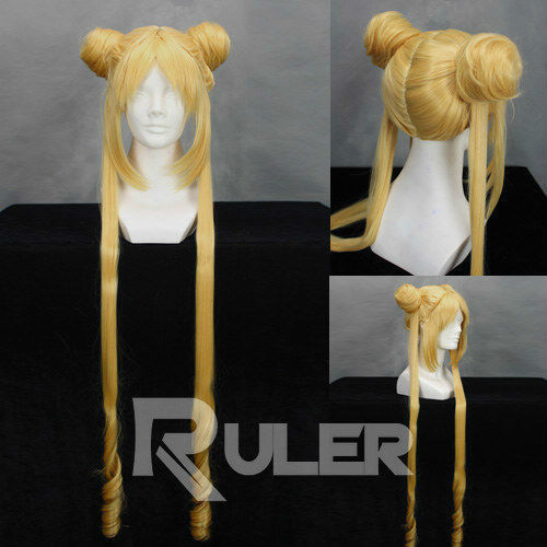 90CM Anime Sailor Moon Tsukino Usagi Cosplay Wig free ship gou matsuoka long wine red women style anime cosplay wig one ponytail 370f