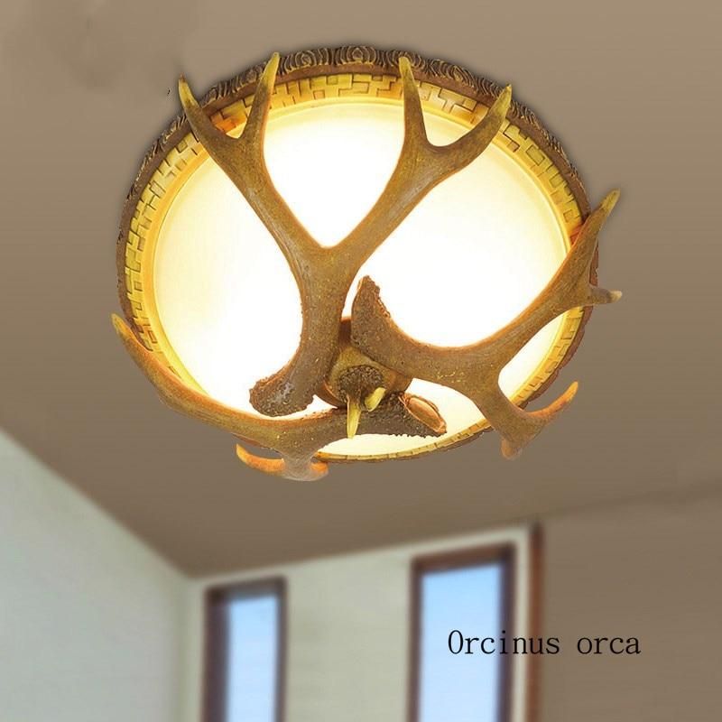 Deer Antler Ceiling Lamp Living Room