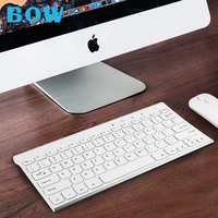B.O.W Keyboard and Mouse Combo,Quite Design 2.4G Metal Ultra Slim Wireless Rechargeable Keyboard and mouse for Desktop, Computer