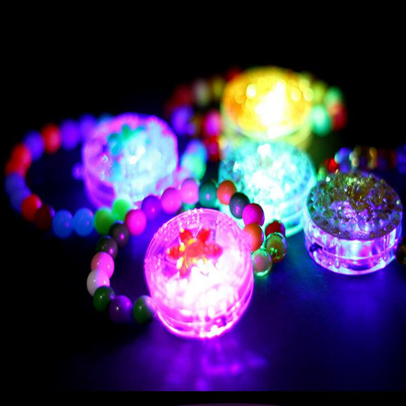 2018 Glowing Bead Wristband Flashing Bangle LED Light-Up Bracelet Kids Toys Gift Glow Party Supplies Christmas New Year