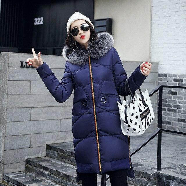 Vrouwelijke Winterjas.Zwart Mooi Parka Vrouwelijke Winterjas Jas Dikker Katoen Down