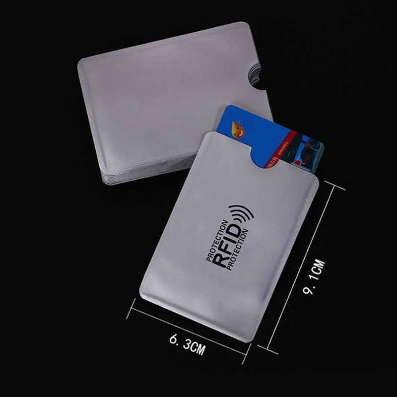 500 Pack RFID Blocking Sleeves Anti Theft RFID Card Protector RFID Blocking Sleeve Identity Anti-Scan Card Sleeve