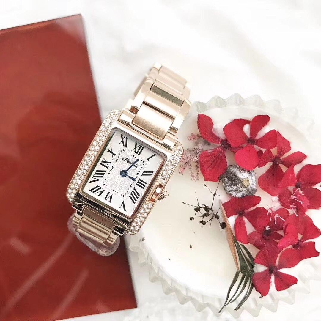 Relógios femininos marca senhoras relógio quadrado completo