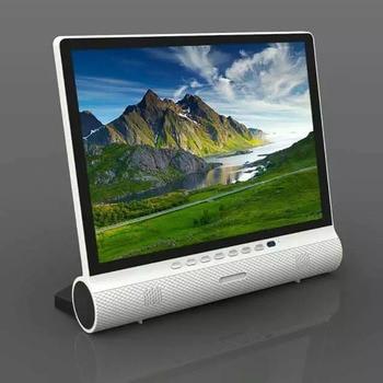 dawupine 15 Inches LCD TV DVB-T2 Soundbar Bluetooth Speaker USB HD 1080P Vedio Play Cable TV Broadcasting VGA Computer Monitor 2
