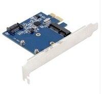 Free Shipping PCI E PCIe To MSATA SSD SATA 3 0 Combo Extender Adapter PCI E
