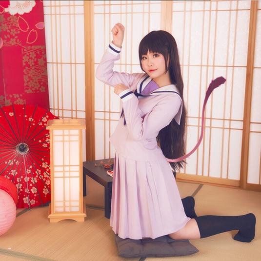 Noragami Yukine Hiyori Iki Anime école uniforme marin costume tenue Cosplay Costumes