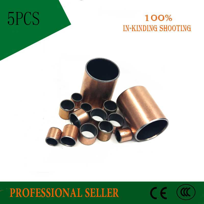 Buy 5Pcs SF1 SF-1 1615 Self Lubricating Composite Bearing Bushing Sleeve 16 x 18 x 15mm Free shipping High Quality sliding bearing