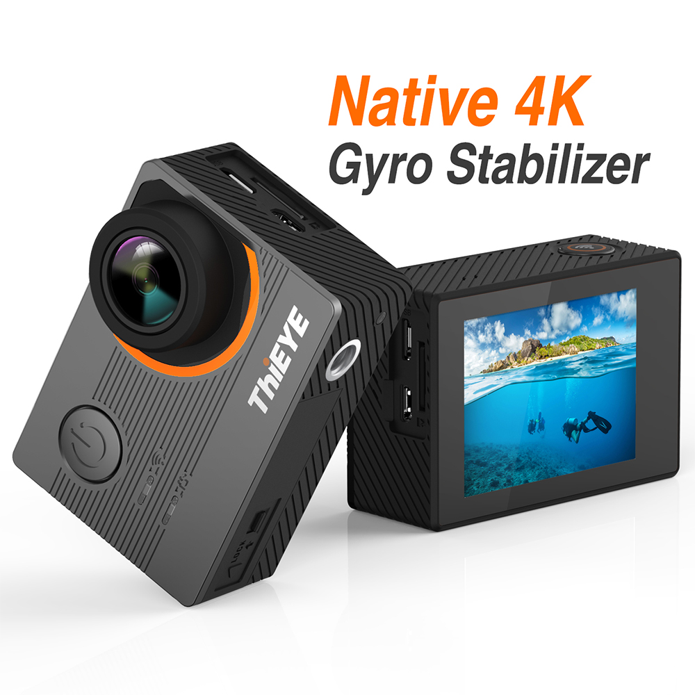 ThiEYE E7 Action Camera Native 4k 30fps Ultra-HD 2.0 Inch WIFI 170 FOV Waterproof Diving Camara Deportiva Voice Control 4k Cam