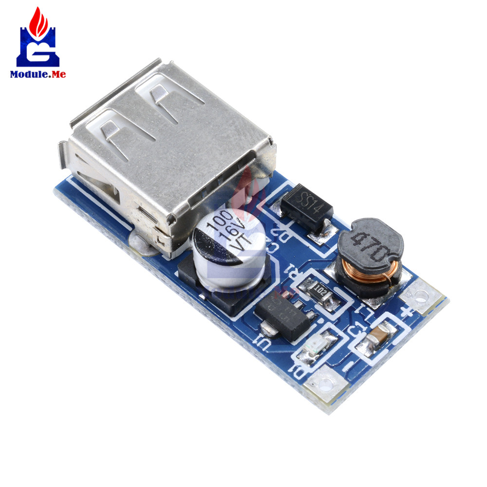 DC-DC USB Step-up Power Boost Module 0.9V-5V To 5V 600mA PFM Control Mini Mobile Booster