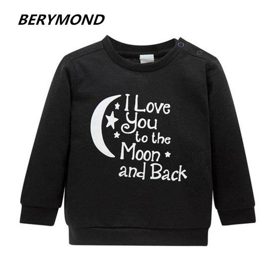 3db7d7c3 Осенняя Брендовая детская Костюмы внешней торговли Новинка 2017 года 100%  хлопок Moon Скороговорка футболка Хань вариант детей Babys футболка с дли.