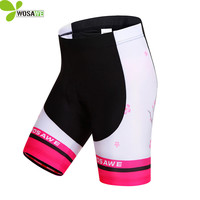WOSAWE Women Cycling Shorts 4D GEL Pad MTB Mountain Bike Riding Bicycle Tights Anti Sweat Breathable