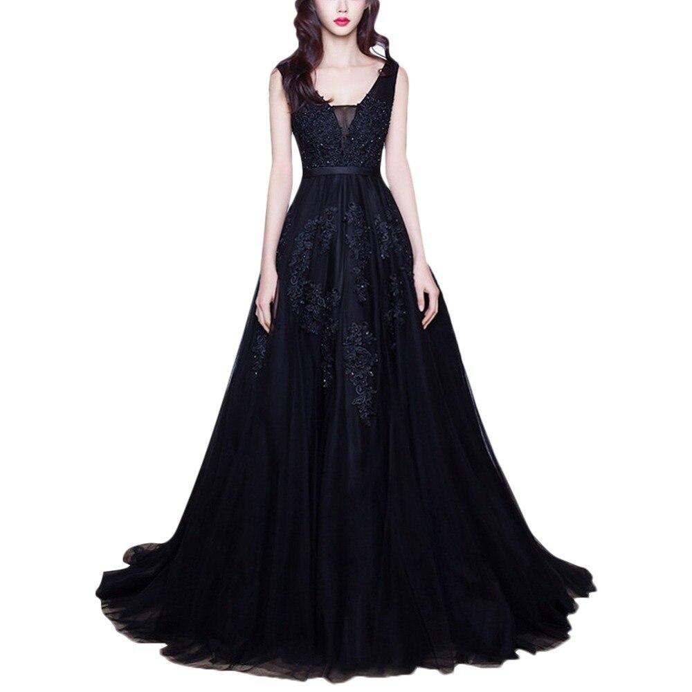Femmes élégantes dentelle Applique robe pour mariage demoiselle d'honneur Tulle longue formelle robe de soirée Vintage dos nu robe pour Photo Shoot