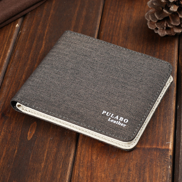 2017 Hot Selling! Mens Short Denim Fabric Wallet Best Soft Canvas Purse Bifold Fashion Ultra-thin Male Wallet Casual Money Bag